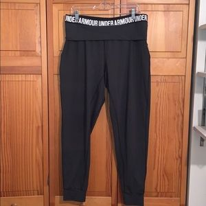 Charcoal Gray loose fitting Under Armour joggers
